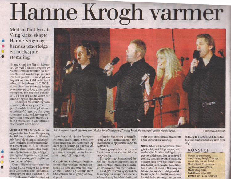 HA Hanne Krogh julekonsert