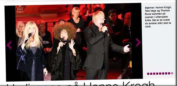 bc118bfd Avisen Eidsvoll Ullensaker Blad fulgte Hanne Krogh, Tata Vega og Thomas  Ruud foran julekonserten i Ullensaker Kirke. Etter konserten konkluderer ...