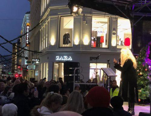 Magisk julestemning på Egertorget i Oslo