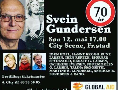 Hanne på jubileumsfest for Svein Gundersen