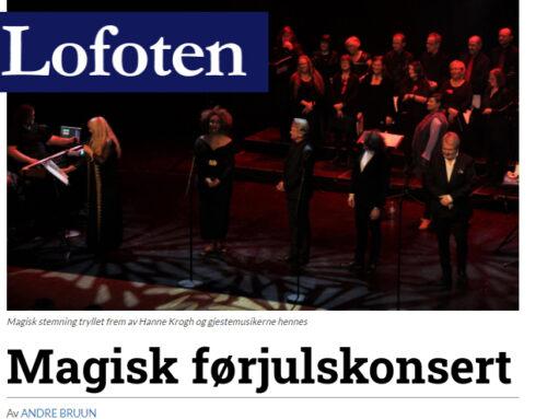 """""""Magisk førjulskonsert i Lofoten"""""""