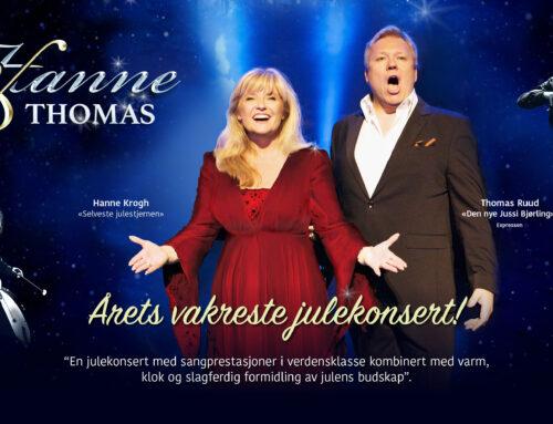 """Hanne og Thomas med """"Årets vakreste julekonsert""""!"""
