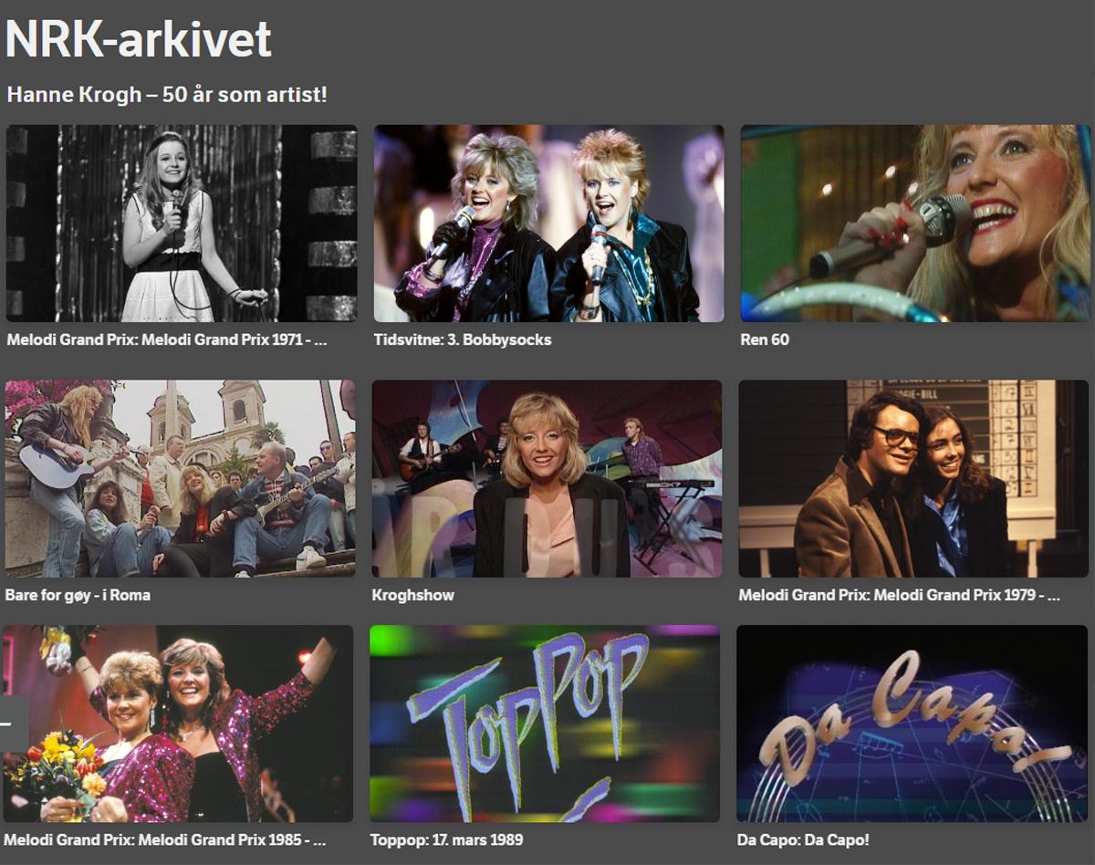 Gull med Hanne fra NRK-arkivet